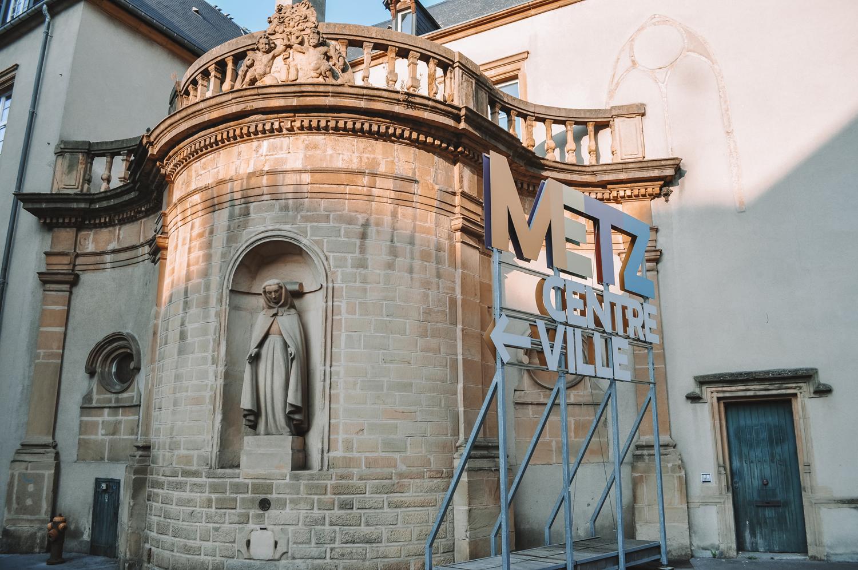 Direction le centre-ville de Metz