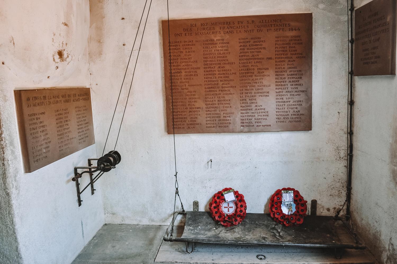 Monument aux morts en mémoire des victimes