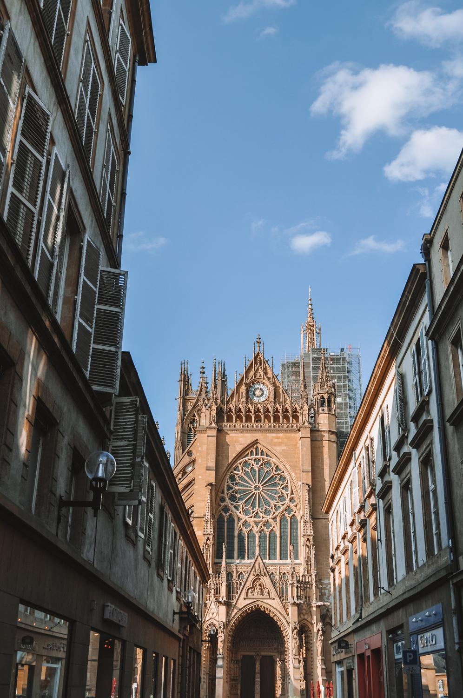 Vue sur la Cathédrale Saint-Étienne de Metz