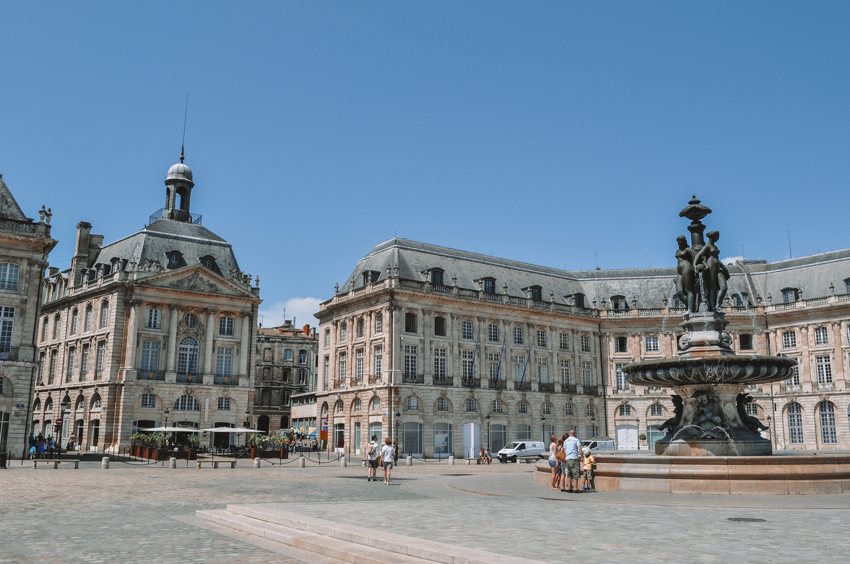 La célèbre place de la Bourse de Bordeaux