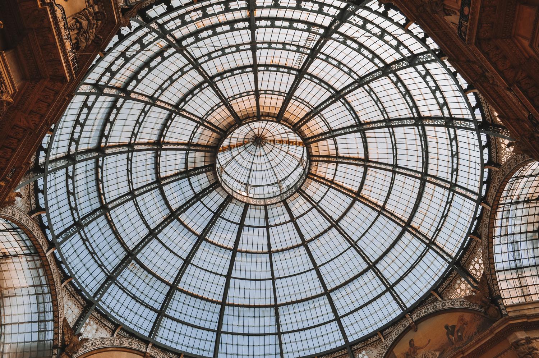 Coupole en verre de la Galleria Vittorio Emanuele II
