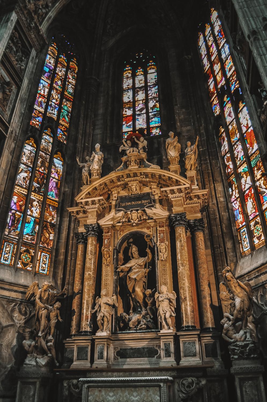 L'une des chapelles du Duomo di Milano