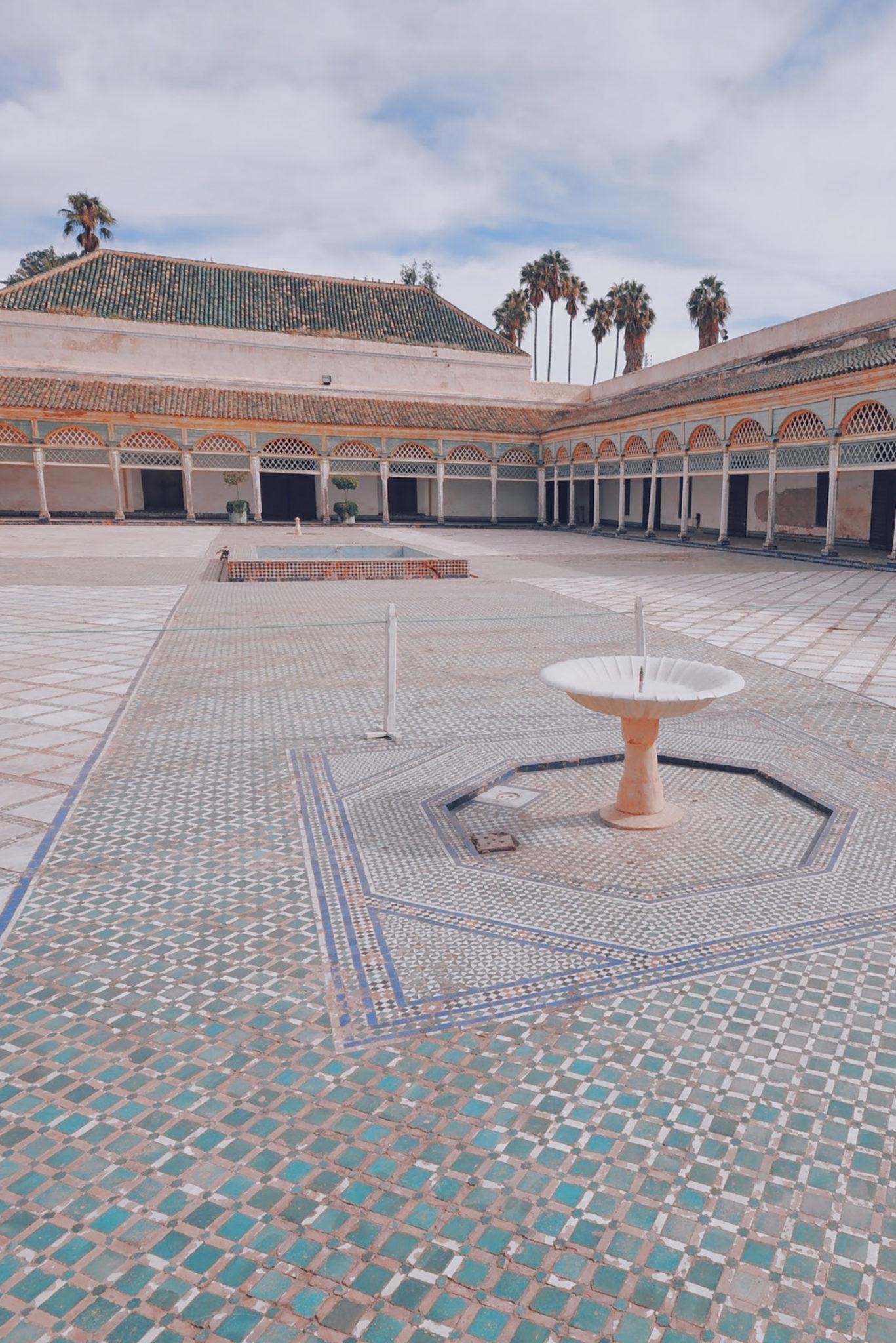 La cour intérieure du Palais et ses fontaines