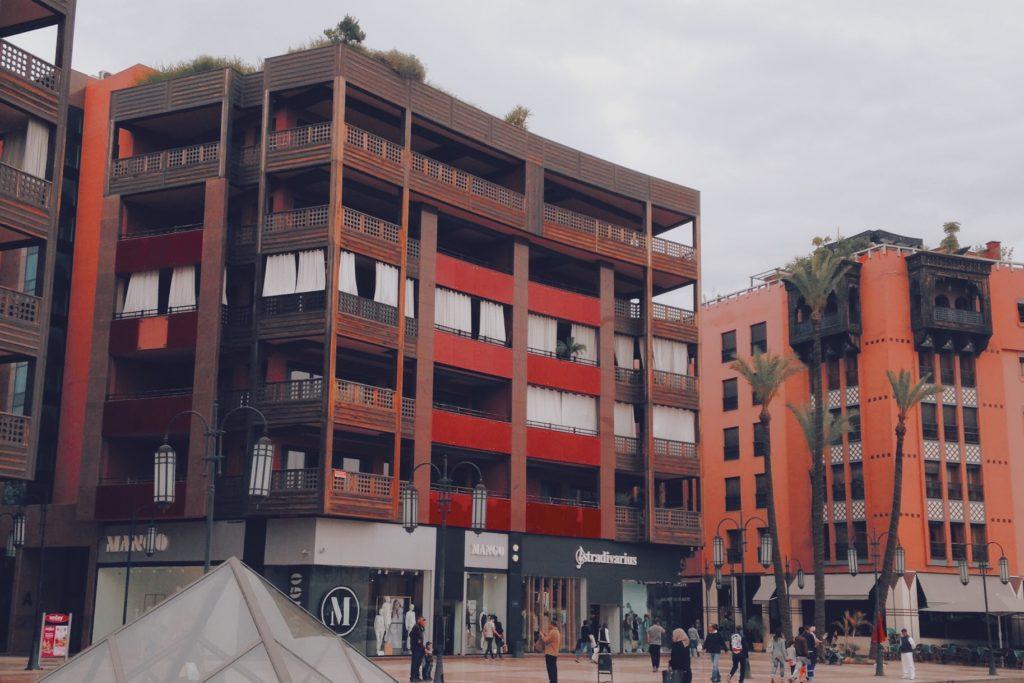 Le quartier plus européanisé de Gueliz, sans grand intérêt selon nous…