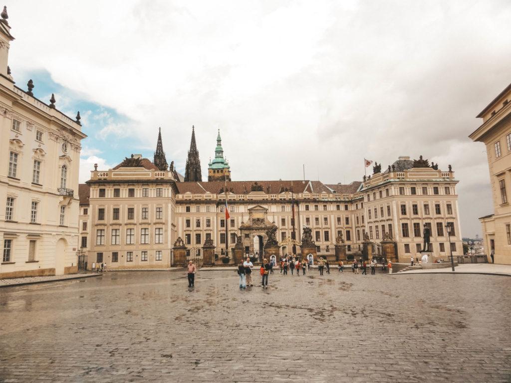 L'entrée du Château de Prague