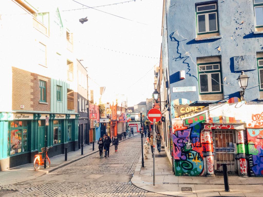 La rue commerçante de Grafton Street
