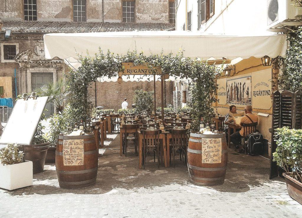 Terrasse de l'Antica Osteria Rugantino