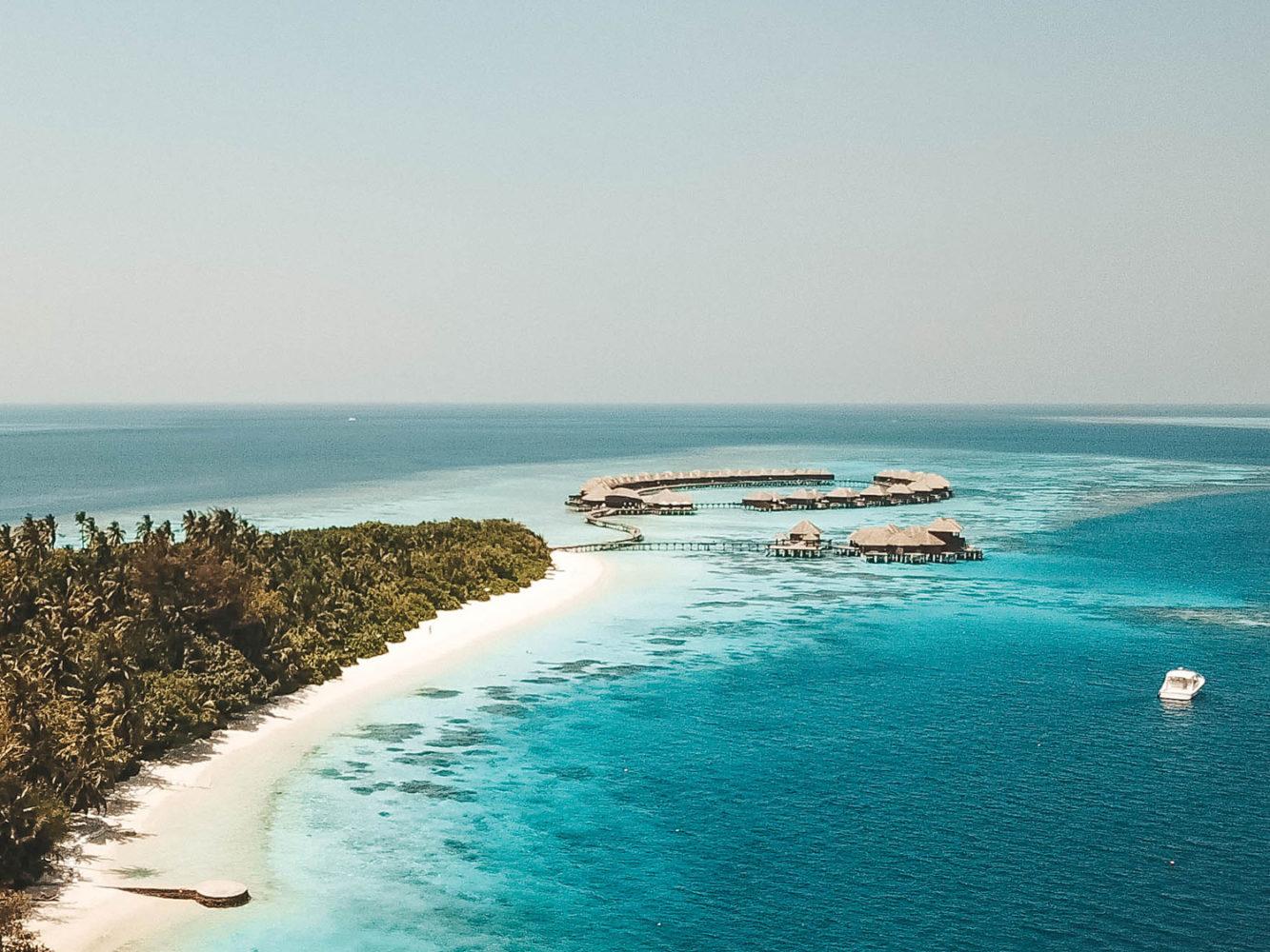 Vue d'atoll capturée avec notre drone