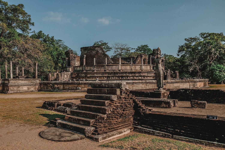 Le site de Polonnaruwa s'étend sur environ 122 hectares
