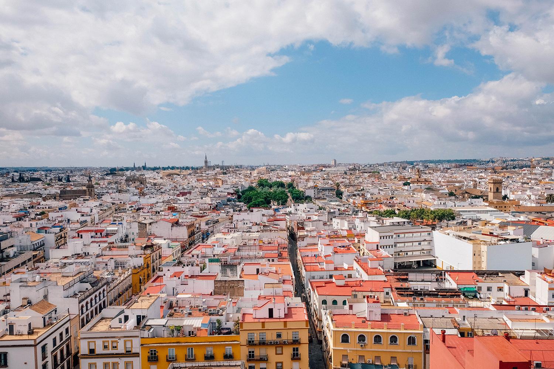 Une vue imprenable sur les toits de la ville