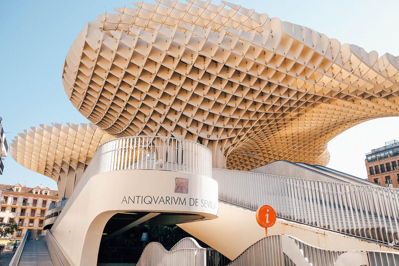 L'entrée de l'Antiquarium de Séville