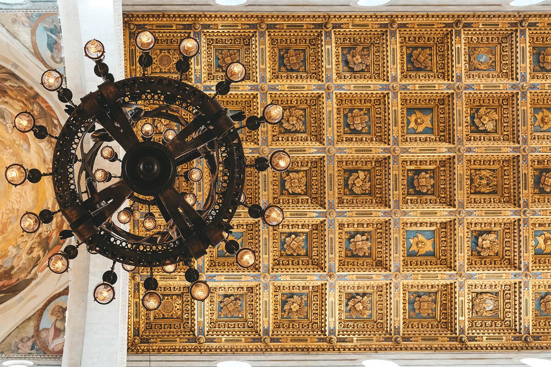 Plafond à caissons de la cathédrale