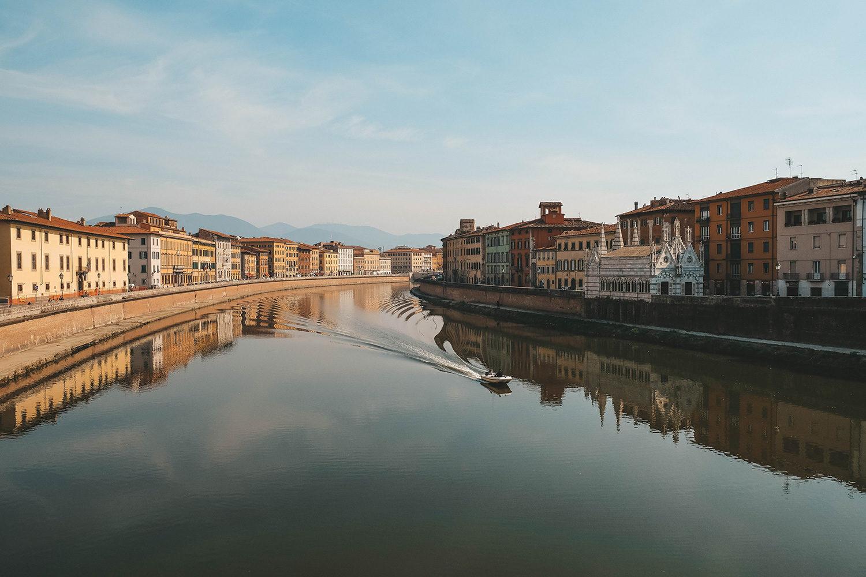 L'Arno qui traverse la Toscane en passant par Florence et Pise