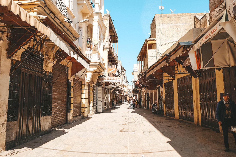 La rue principale du quartier juif de Fès