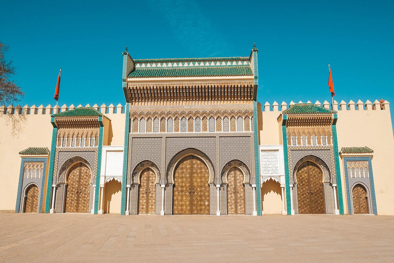 Les portes principales du Palais Royal