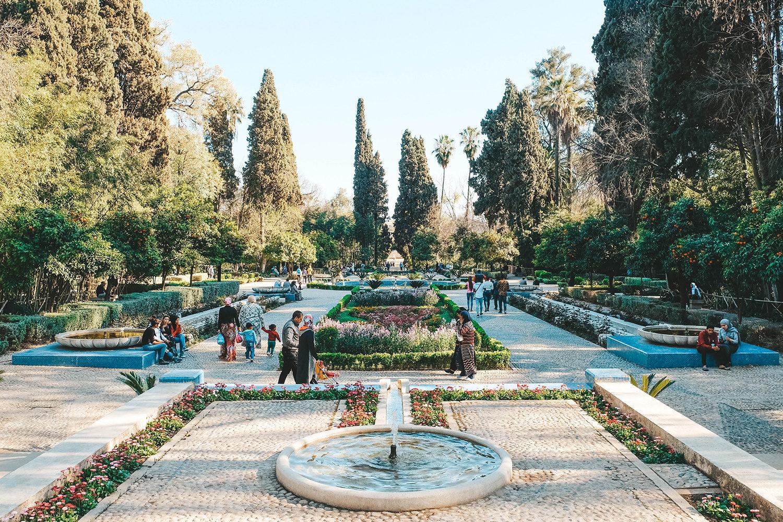 L'entrée principale du jardin Jnan Snil