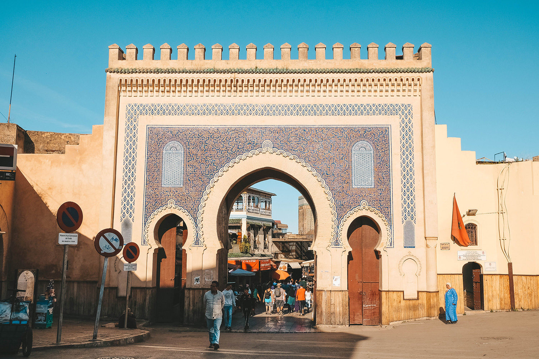 L'entrée dans la Médina par la Bab Boujloud