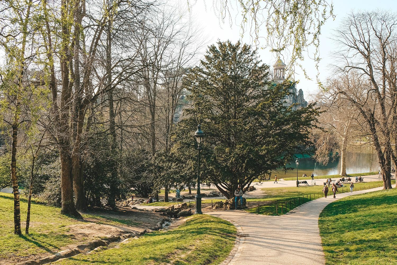 Parcours des joggeurs dans le parc des Buttes-Chaumont