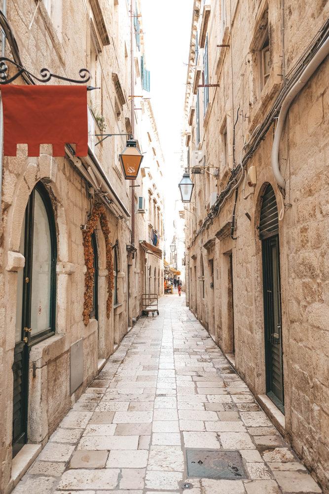 Ruelle étroite de Dubrovnik