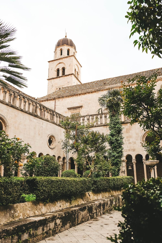 La tour du monastère franciscain de Dubrovnik