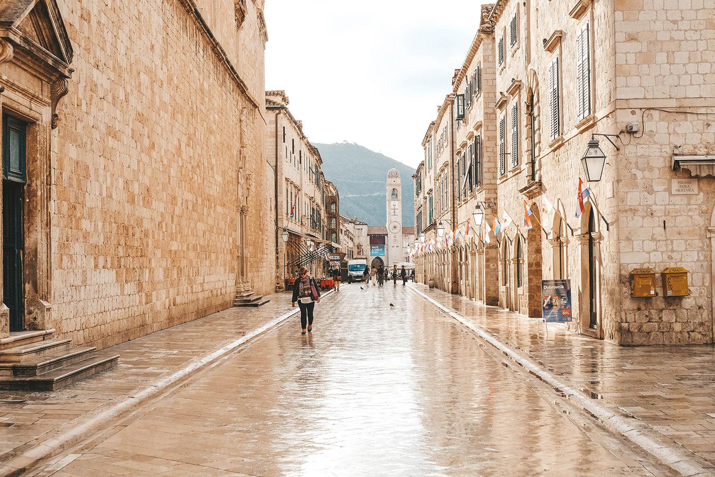 Rue principale de la vieille ville de Dubrovnik