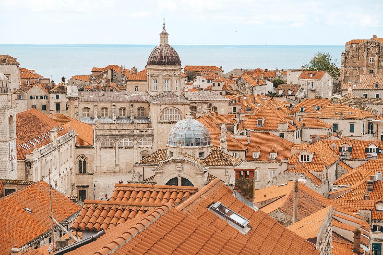 Les toits de la vieille ville de Dubrovnik