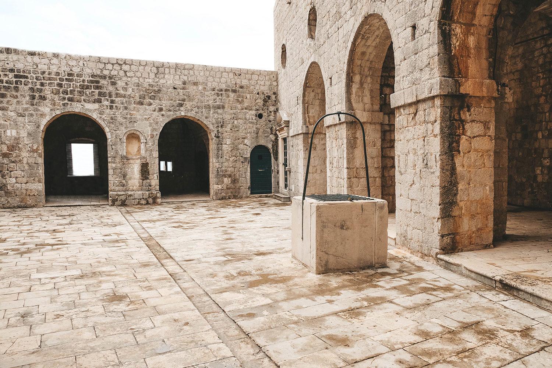 La cour principale du fort