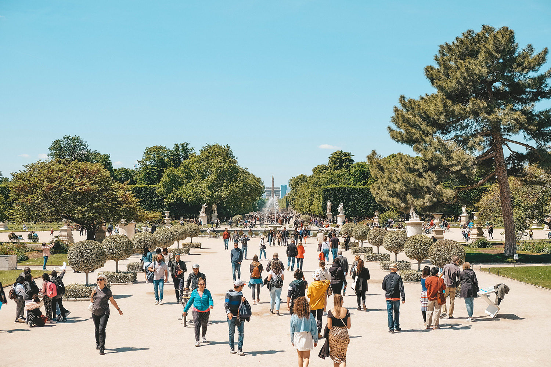 L'allée principale du Jardin des Tuileries