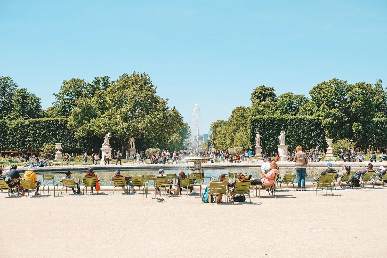 Le grand bassin rond du jardin des Tuileries