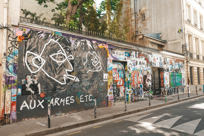 La façade de la maison de Serge Gainsbourg