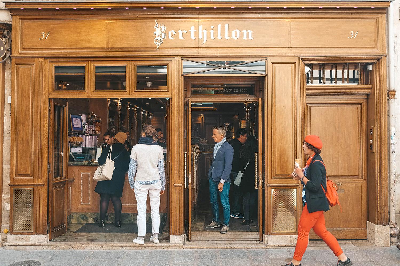 """Façade de la célèbre """"Maison Berthillon"""""""