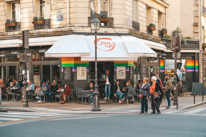 Un café très connu du Marais