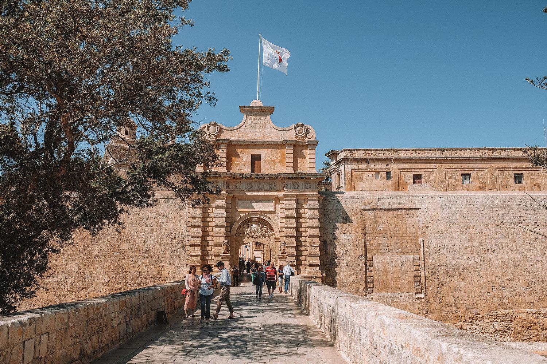 Entrée dans la Cité médiévale de Mdina
