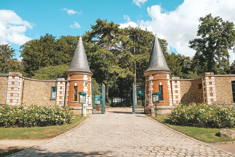L'entrée du parc de Bagatelle