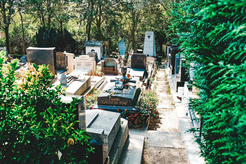 La tombe de la célèbre Edith Piaf