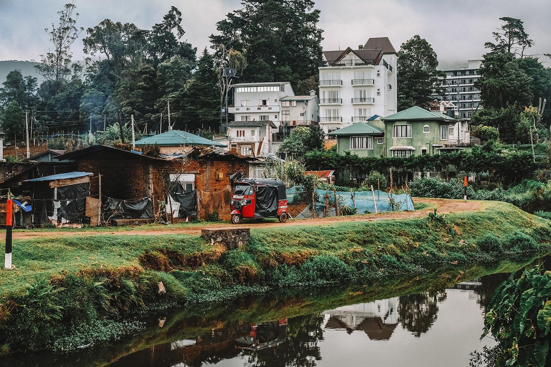 Petites maisons proches du lac Gregory