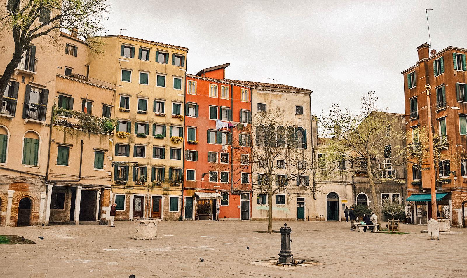 La place Campo del Ghetto Nuovo, au centre du Ghetto juif de Venise