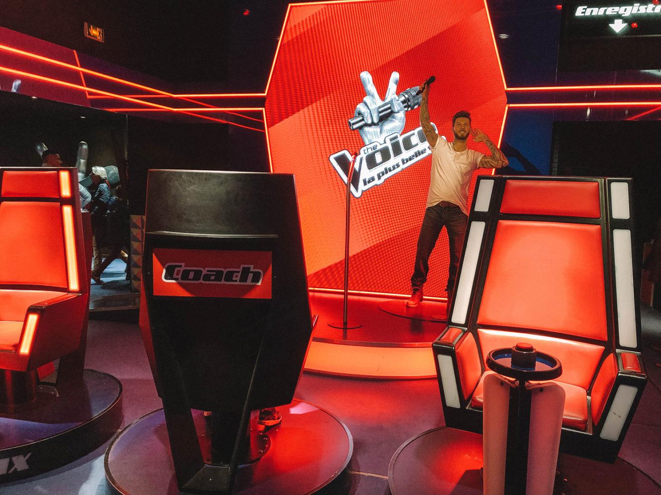 M. Pokora sur le plateau de The Voice