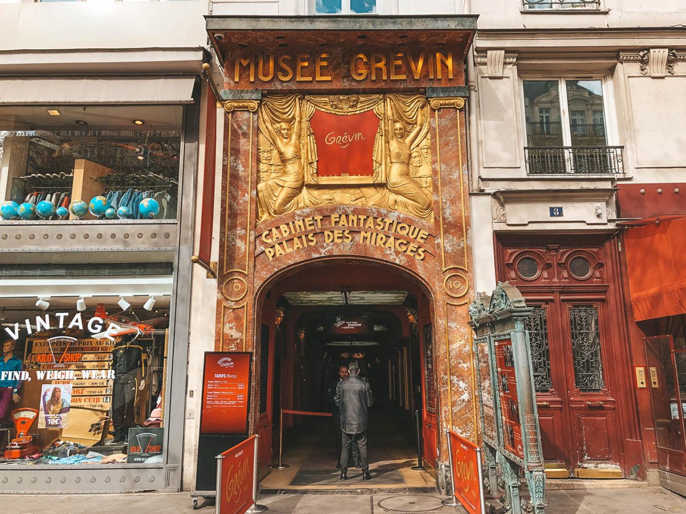 L'entrée du musée Grévin