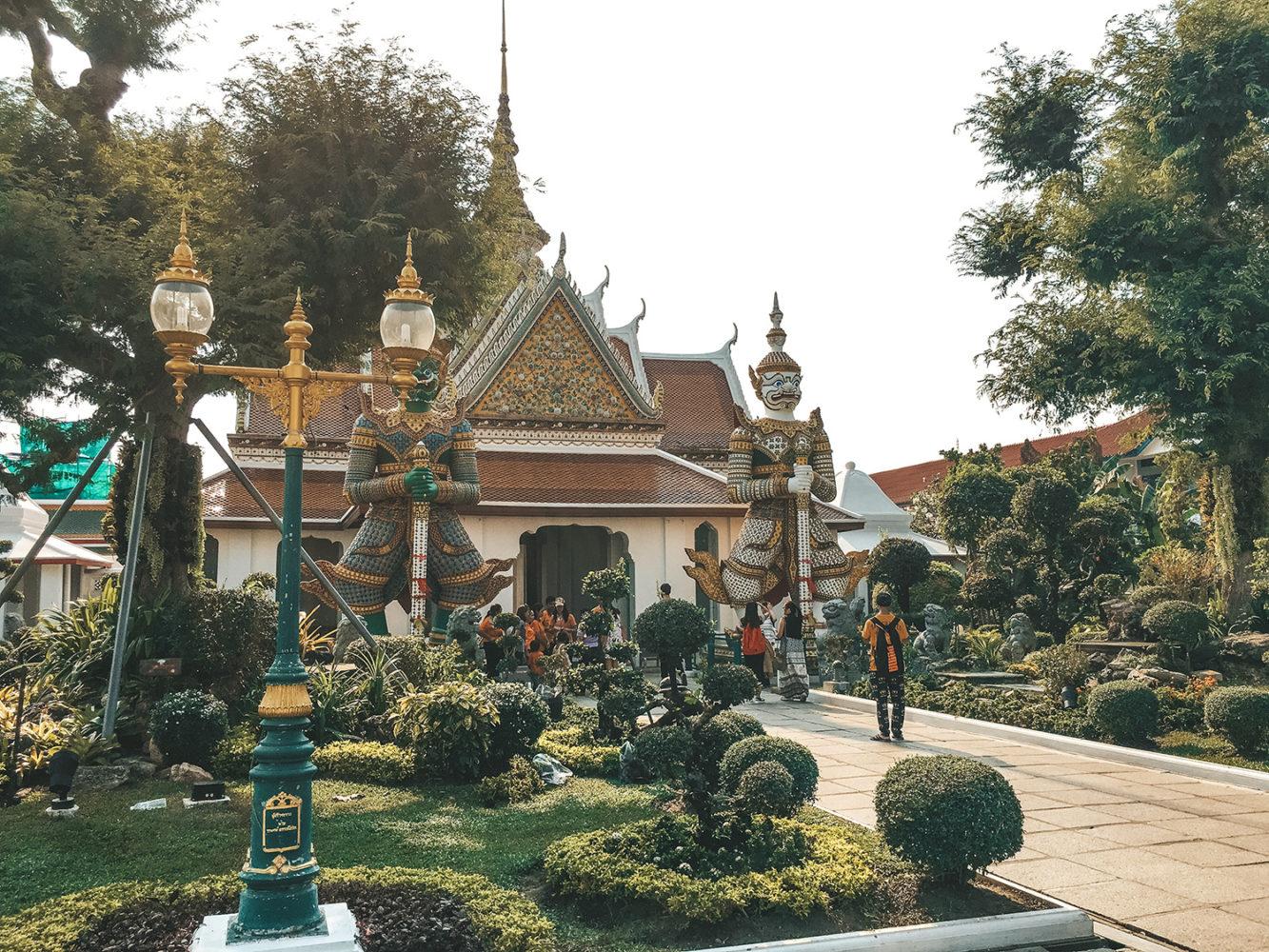 L'entrée du temple Wat Arun