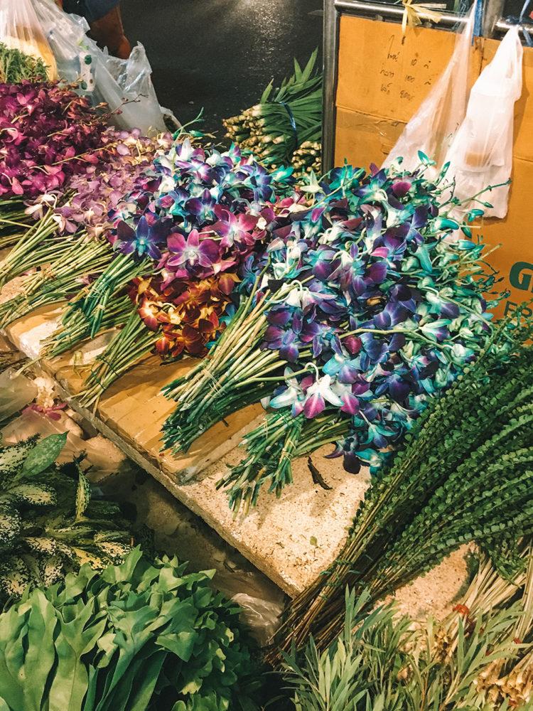 Des fleurs multicolores
