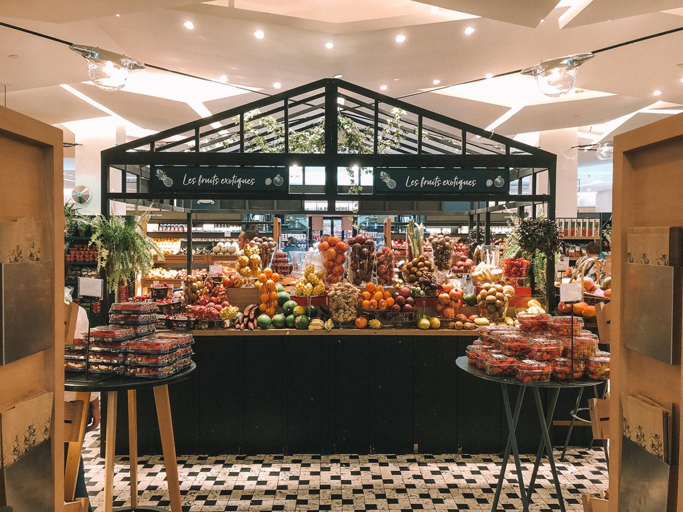 Comptoir des fruits et légumes