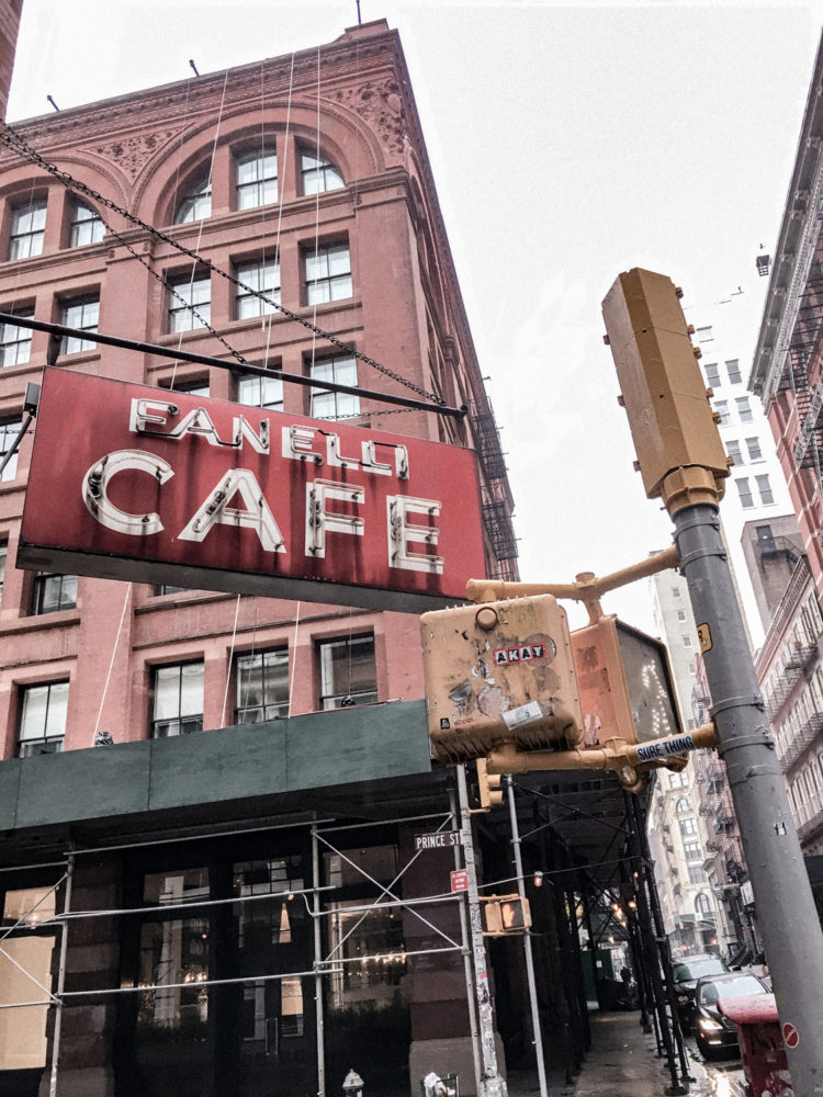 Le Fanelli Cafe, un restaurant historique de New York