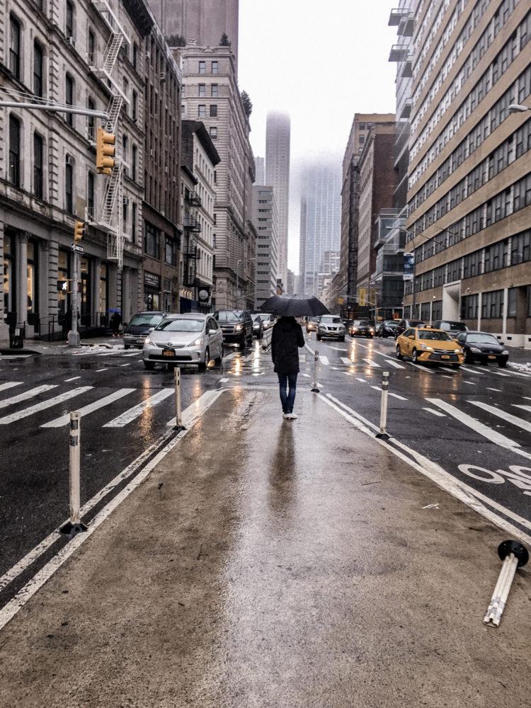 Temps pluvieux sur Manhattan