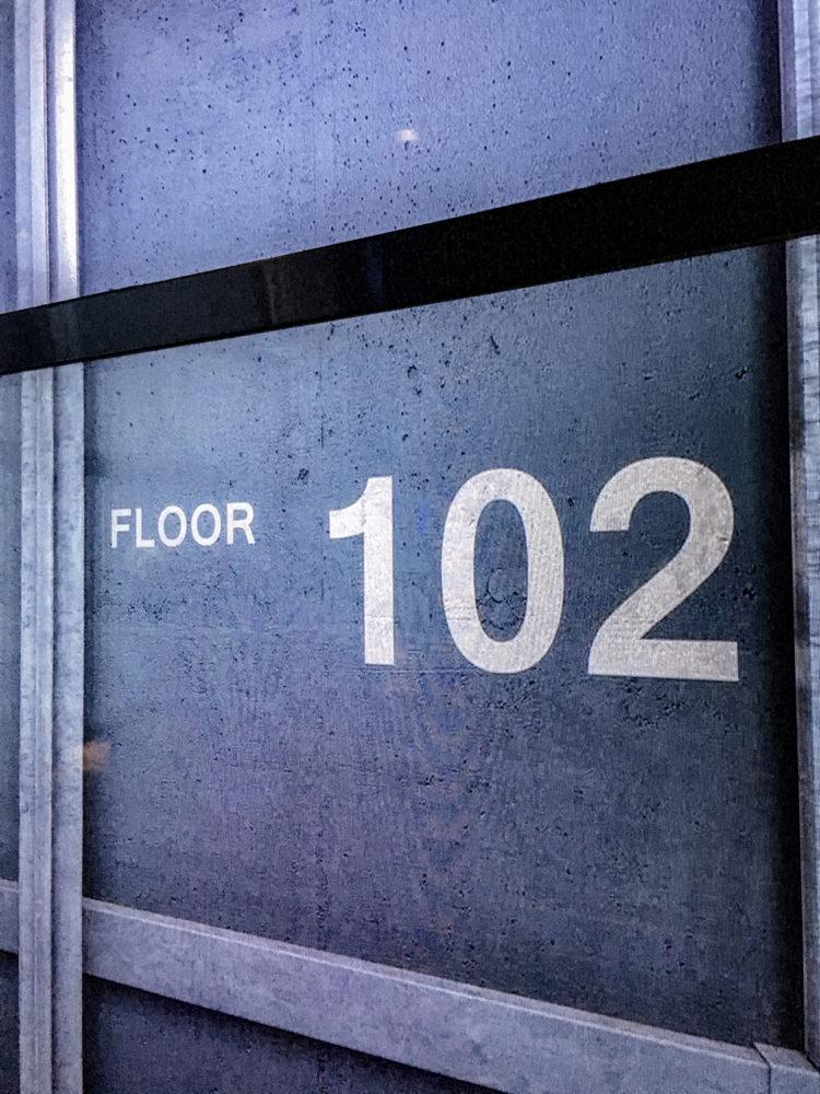 Arrivée à l'étage 102