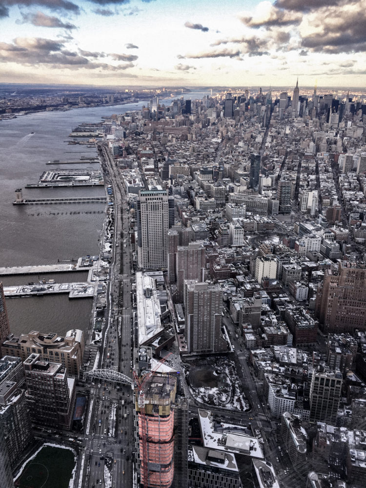 Vue imprenable sur Manhattan