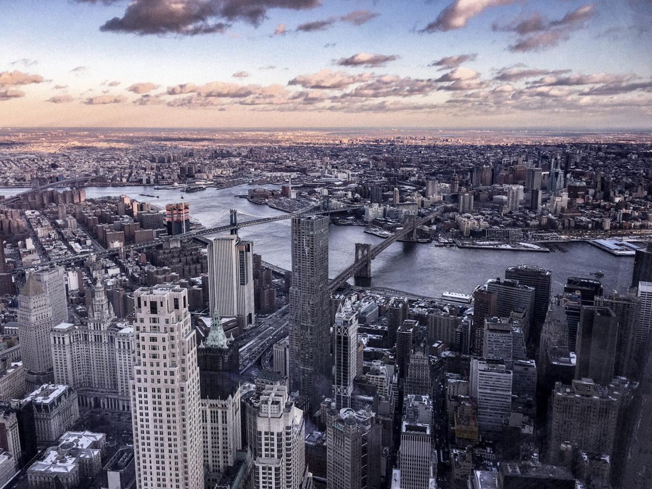 Vue sur les ponts de Manhattan