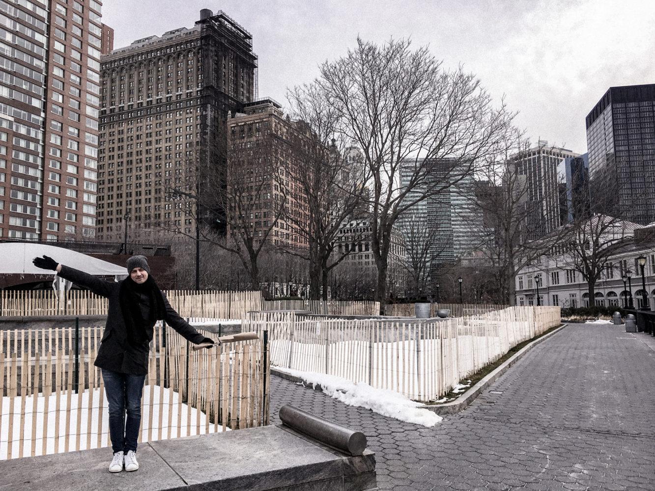 Moment vivifiant entre les buildings et l'Hudson River