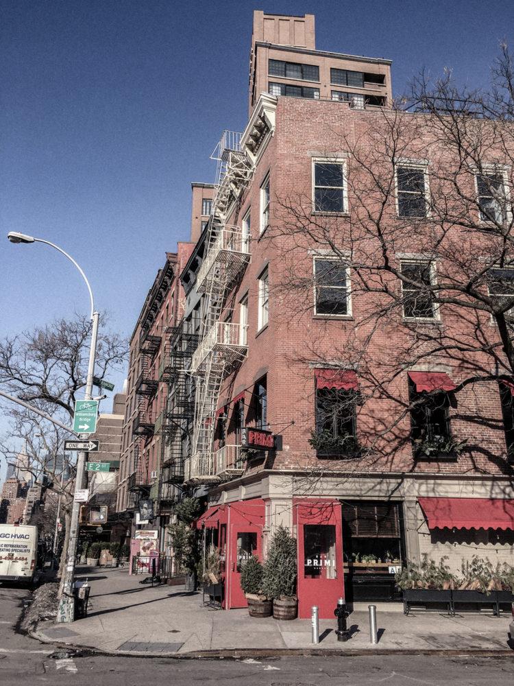 Les charmants immeubles en briques rouges