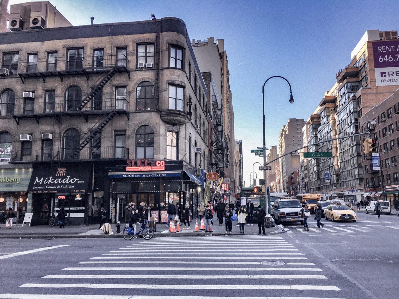 A l'angle de la 6ème avenue